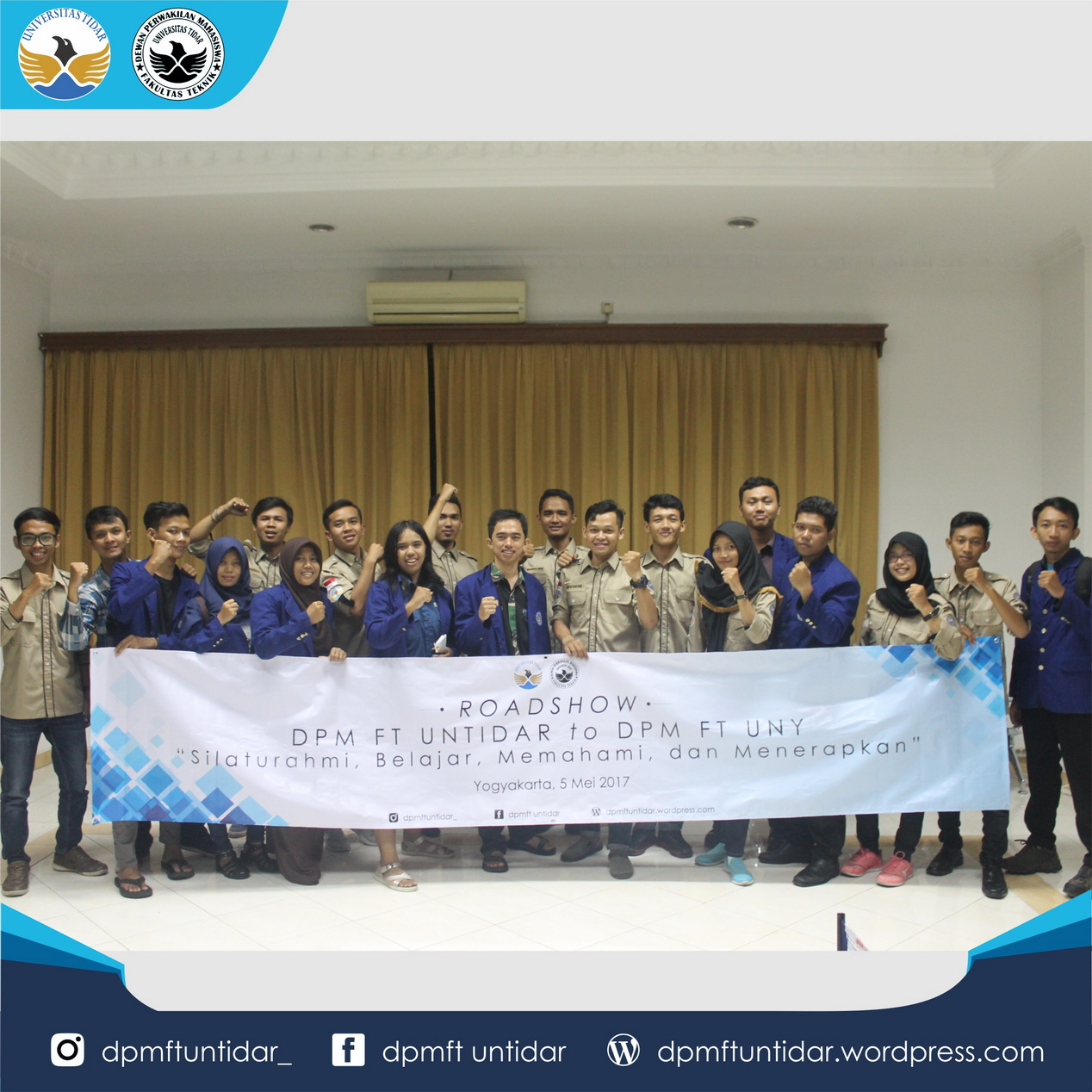 Road show DPM FT UNTIDAR TO Universitas Negeri Yogyakarta
